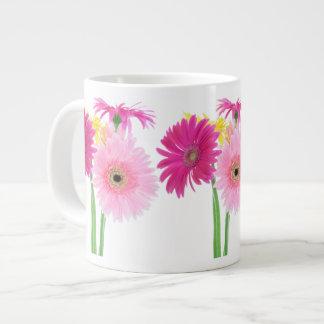 Gerbera Daisy Piink Flowers Large Coffee Mug