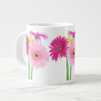 Gerbera Daisy Piink Flowers Jumbo Mug