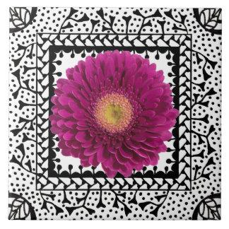 Gerbera Daisy Purple Tile