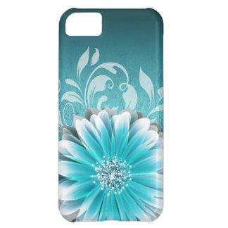Gerbera Daisy Scroll 1 | teal iPhone 5C Case