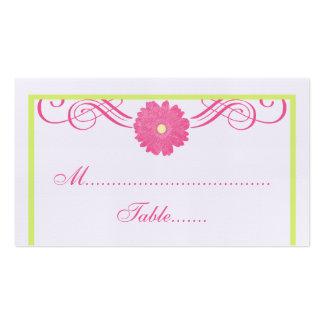 Gerbera Daisy Swirls Place Card Business Card Template