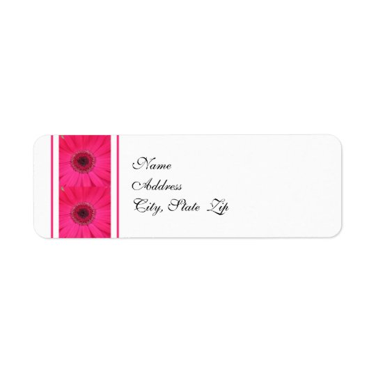 Gerbera Daisy Wedding Return Address Label