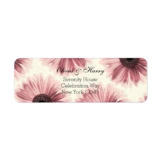 Gerbera Daisy | Wedding Return Address Labels