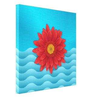 Gerbera Flower Stretched Canvas Print