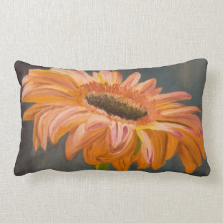 Gerbera flower lumbar cushion