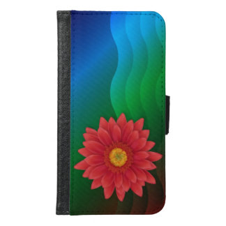 Gerbera Flower Samsung Galaxy S6 Wallet Case