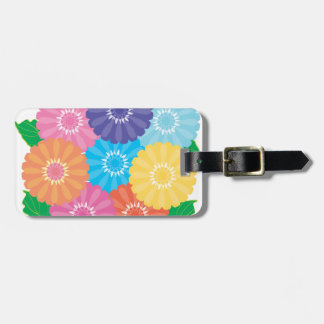 Gerbera flowers luggage tag