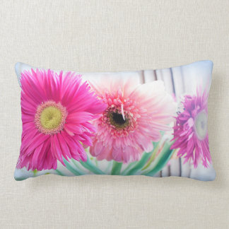 Gerbera flowers lumbar cushion
