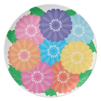 Gerbera flowers plate