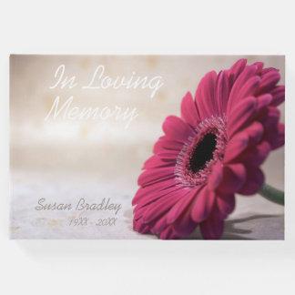 Gerbera Funeral Memorial Remembrance Guest book