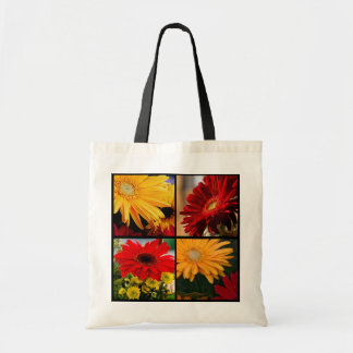 Gerbera Montage - Budget Tote Canvas Bags