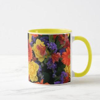 Gerbera Rose Bouquet Mug