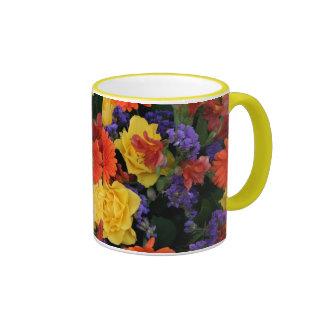 Gerbera Rose Bouquet Ringer Mug