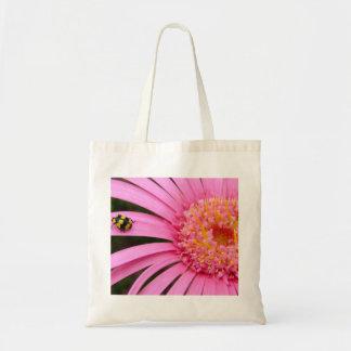 Gerbera with Ladybug Budget Tote Bag