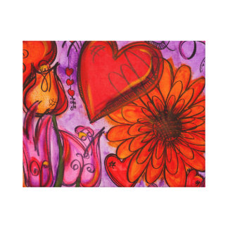 Gerberas, Daisies and Tulips Canvas Print