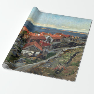 Gerhard Munthe View of Nevlunghavn Wrapping Paper