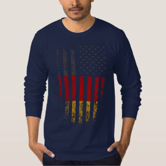 German American Flag Grunge T-Shirt