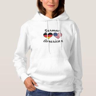 German American Flag Hearts Hoodie