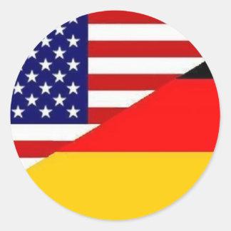 German American friendship sticker