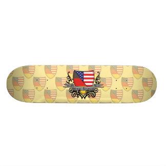 German-American Shield Flag Skate Board