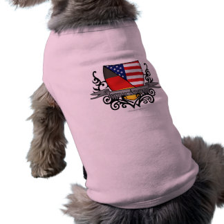 German-American Shield Flag Sleeveless Dog Shirt