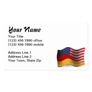 German-American Waving Flag Double-Sided Standard Business Cards (Pack Of 100)