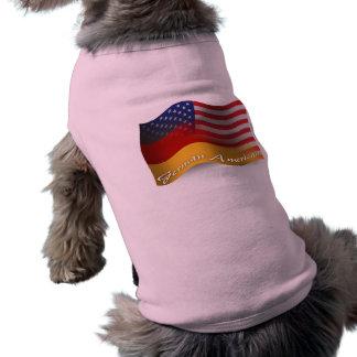German-American Waving Flag Sleeveless Dog Shirt