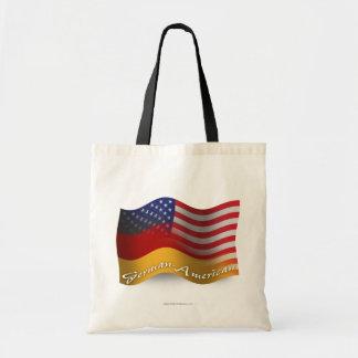 German-American Waving Flag Tote Bag