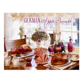 German Apple Pancakes Postcard