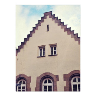 German architecture custom invite