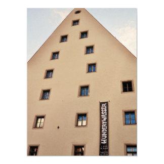German architecture 17 cm x 22 cm invitation card