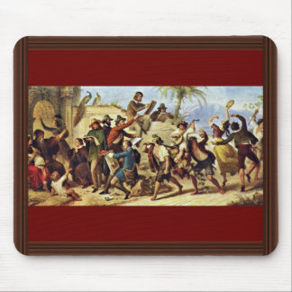 German Artists In Rome By Kaulbach Wilhelm Von (Be Mousepad