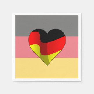 German At Heart Oktoberfest Party Paper Napkins