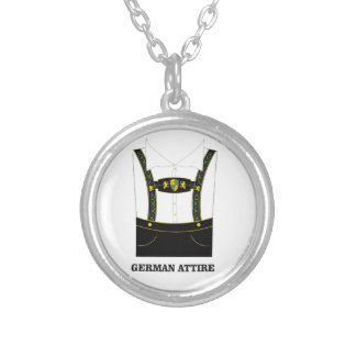 German attire silver plated necklace