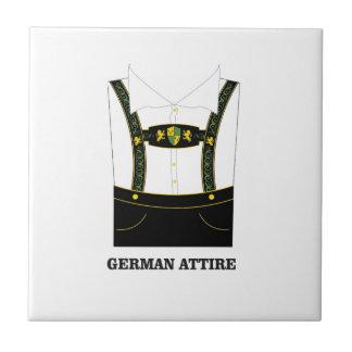German attire small square tile