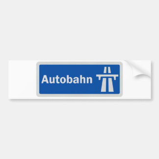 German Autobahn highway sign bumper sticker