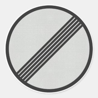 German Autobahn 'No speed restrictions' sticker