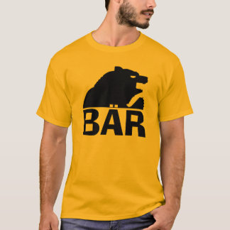 German Bear (Bär) Black Bear Claw Back T-Shirt