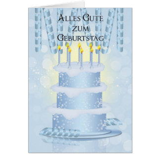 German Birthday Cake And Candles Card