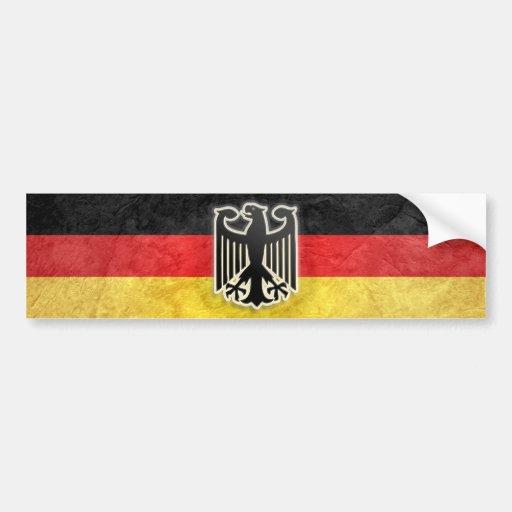 German Bumper Sticker Grunge Eagle Crest Decal