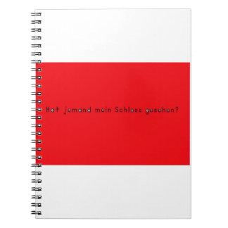 German -Castle Spiral Notebooks