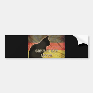 GERMAN CAT LOVER BUMPER STICKER