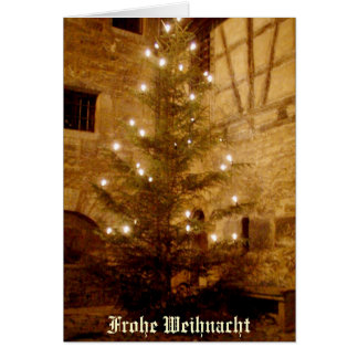 German Christmas Card-Frohe Weihnacht Card