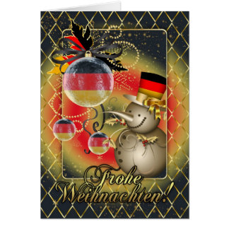 German Christmas Card - Frohe Weihnachten