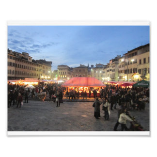 German Christmas Market in Piazza Santa Croce Photo Art