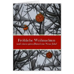 German Christmas, Ornaments in Snow Greeting Card