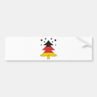 German Christmas Tree Bumper Sticker