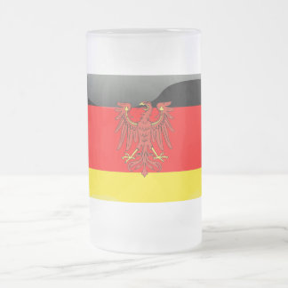 German Coat of arms Frosted Glass Beer Mug