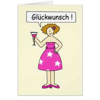 German Congratulations, Gluckwunsch. Card