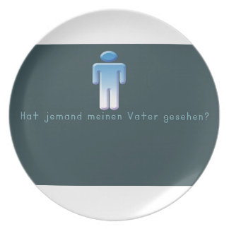German -Daddy Dinner Plate